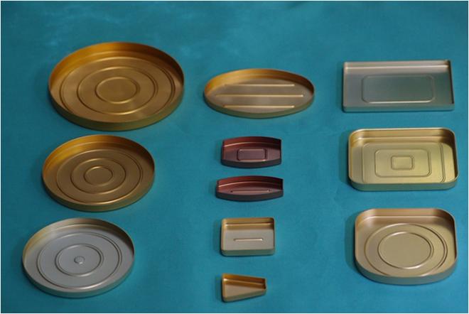 カラーアルマイトアルミ皿(金)