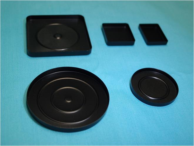 カラーアルマイトアルミ皿(黒)