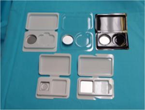 試供品用トレイ (金皿+パフ 収納タイプ)